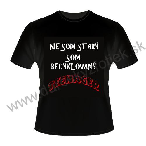 4830e88f4921 Čierne bavlnené tričko